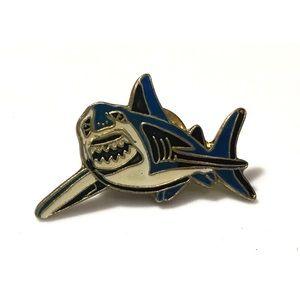 Vintage 1980's Shark Enamel Pin